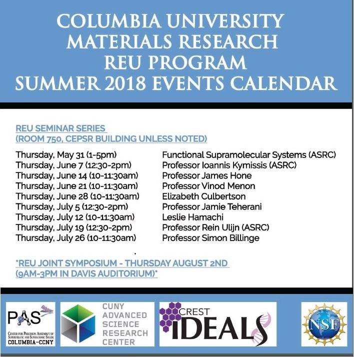 2018 IDEALS REU Seminar Series