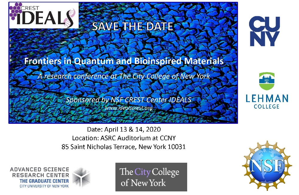SAVE THE DATE: Frontiers in Quantum and Bioinspired Materials